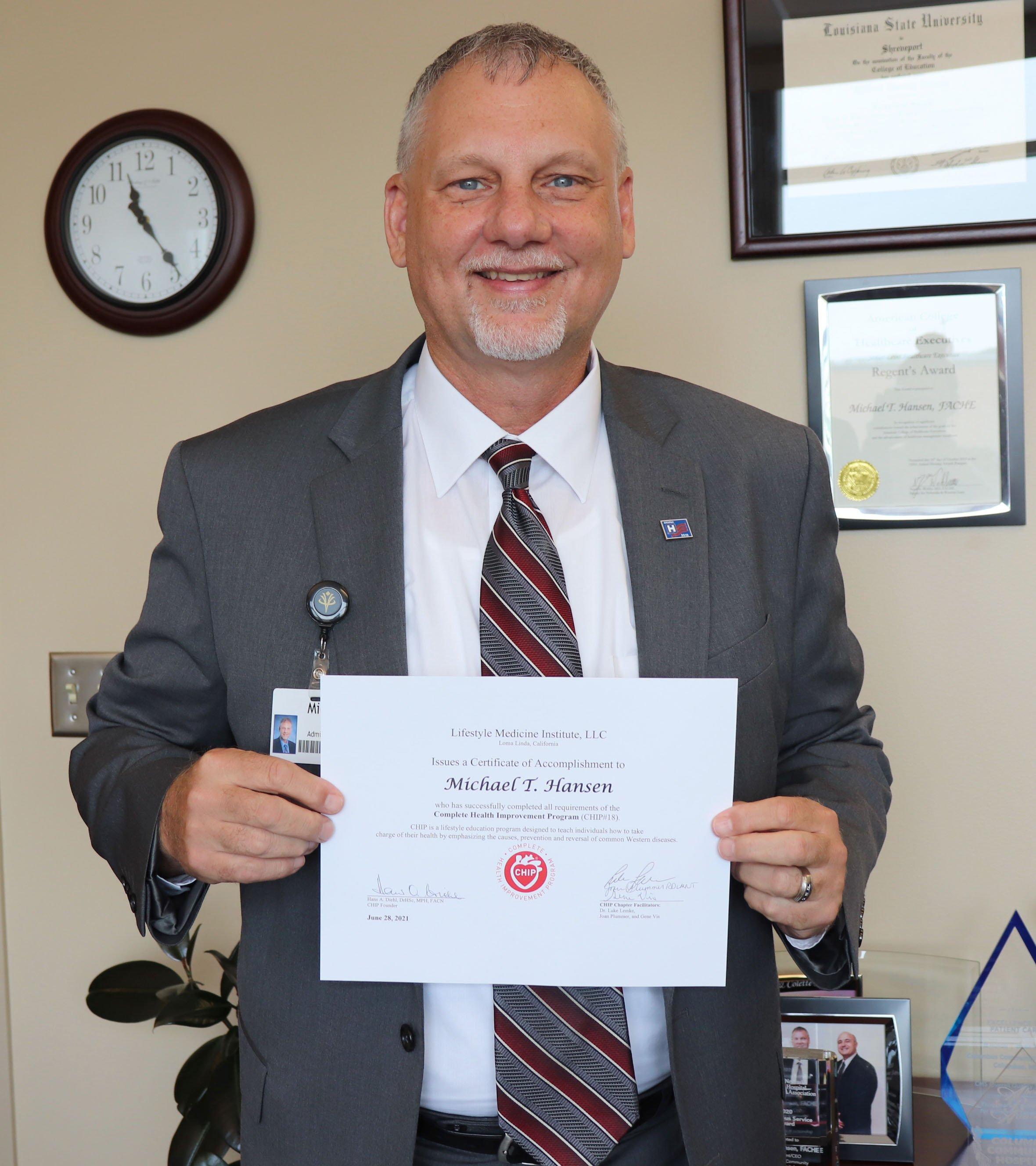 Columbus Community Hospital president benefits from healthy lifestyle program