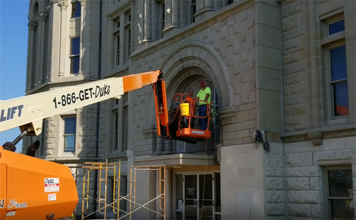 Company continues work on preserving the Gage County Courthouse