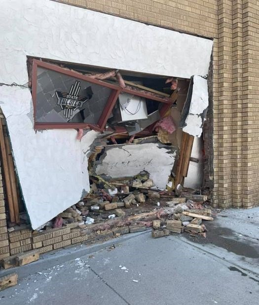 Van crashes into Central City movie theater
