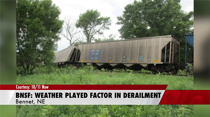 Officials say weather played role in Bennet train derailment