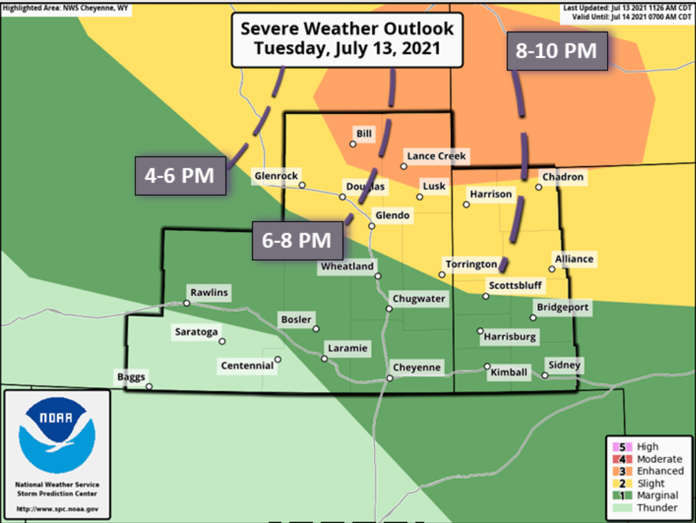 Severe weather possible in panhandle Tuesday night