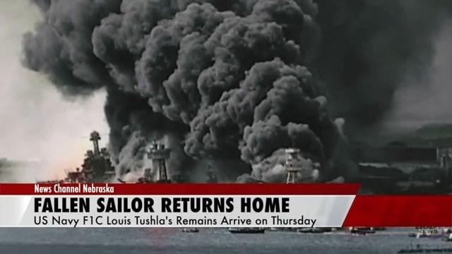 Deceased Pearl Harbor sailor returns home to Nebraska