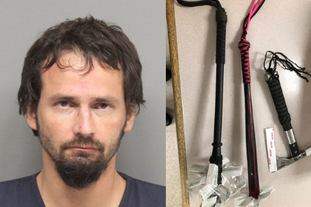 Meth, medieval weapons found during arrest of Arizona man in Lincoln