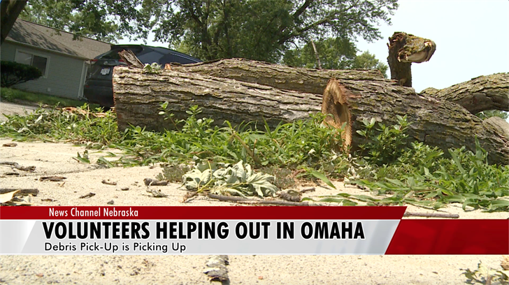 Volunteers helping out as Omaha cleans up from storm damage