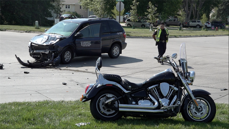 Motorcyclist injured after being struck by a van near hospital