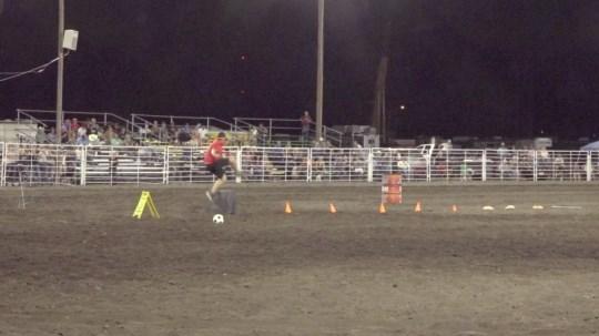 WATCH: Hunter runs 'drunk' through obstacle course at Cheyenne County Fair
