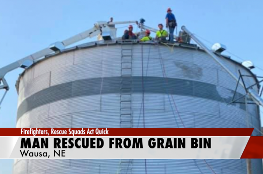 Northeast Nebraska crews rescue man from grain bin