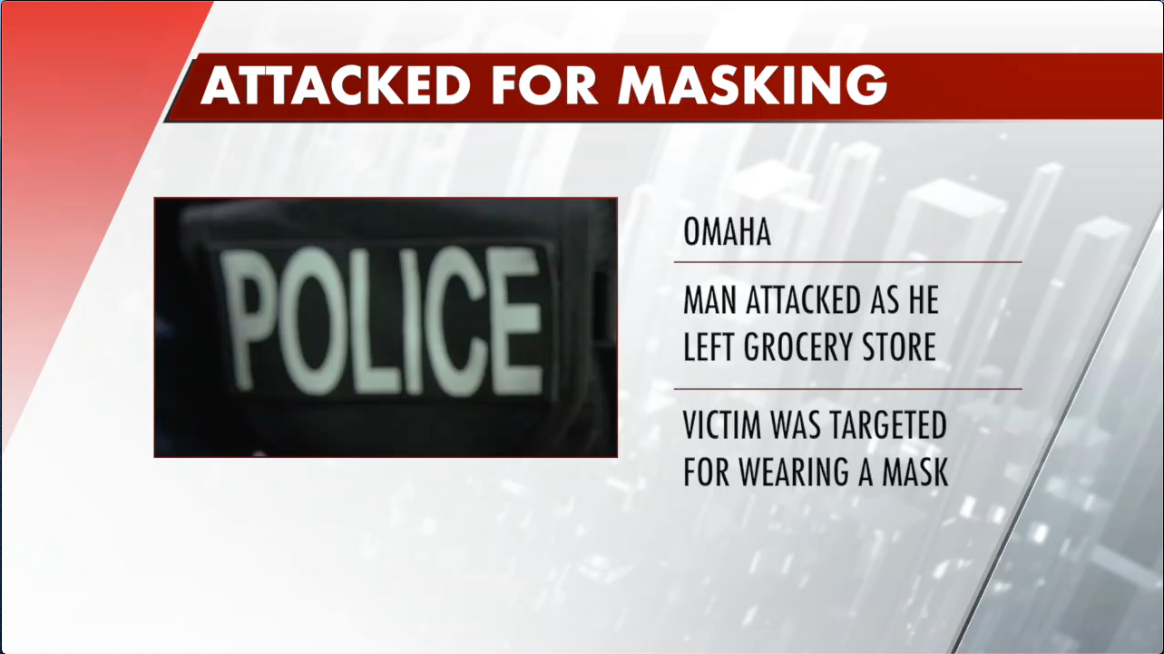 Omaha man arrested after allegedly attacking and shooting man for face mask