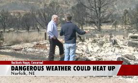Nebraska sits in sun while West burns