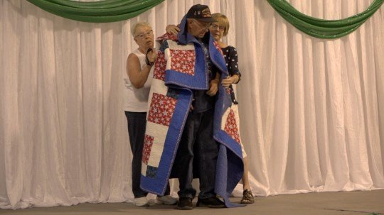 Vietnam veteran presented with Quilt of Valor at Cheyenne County Fair