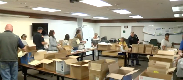 Scottsbluff Police and Fire Departments pack bags for National Night Out next week
