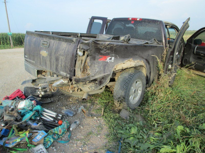 One person injured in rural Gage County collision of pickups