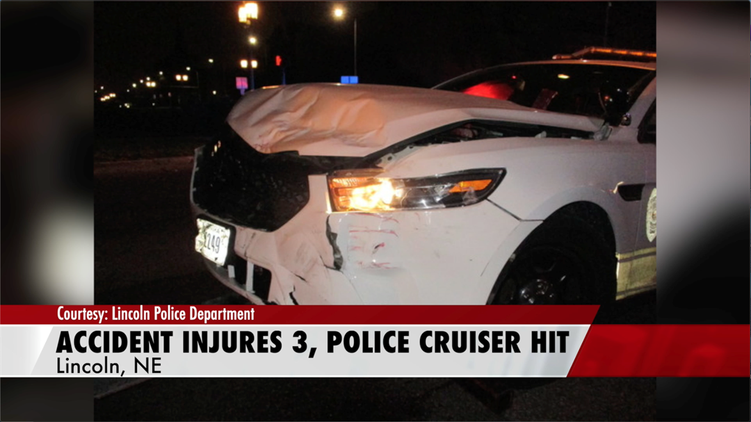 LPD: police cruiser hit, three injured after drunk driver ran traffic light