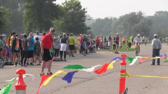Making a splash with Crofton's annual dam race triathlon