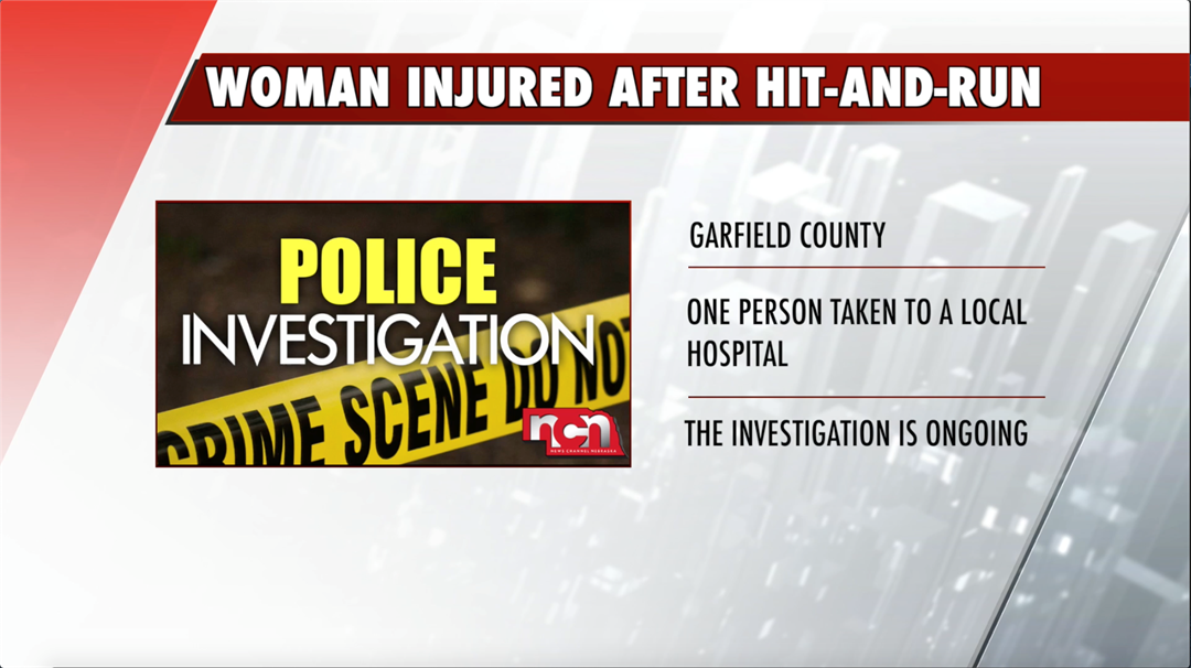 Pedestrian woman injured after hit-and-run in Burwell
