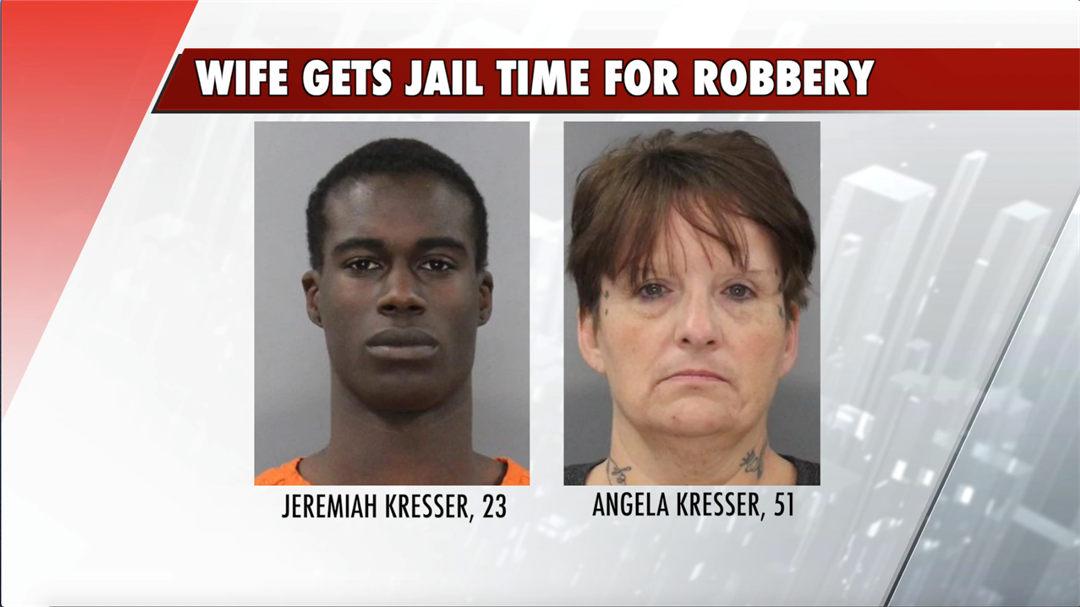 Wife to spend year in jail in connection with two robberies