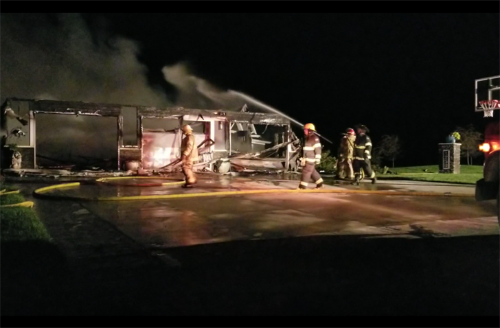 Four departments battle early Wednesday fire, south of Beatrice