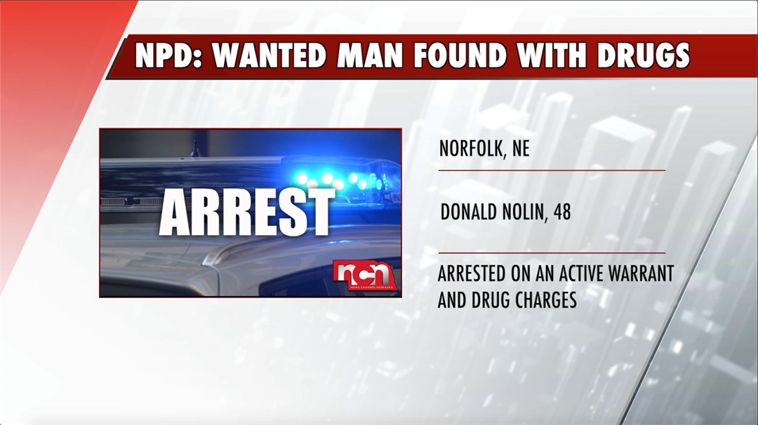 NPD: Wanted man arrested with drugs after welfare check