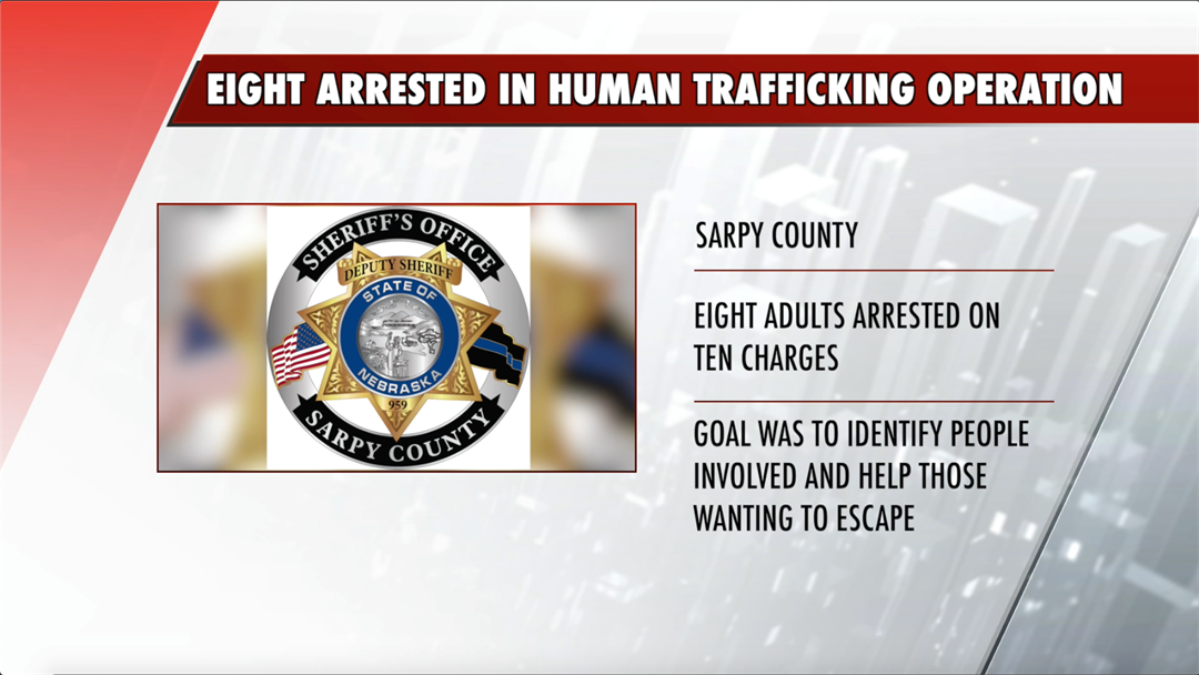 Eight arrested in connection with human trafficking operation