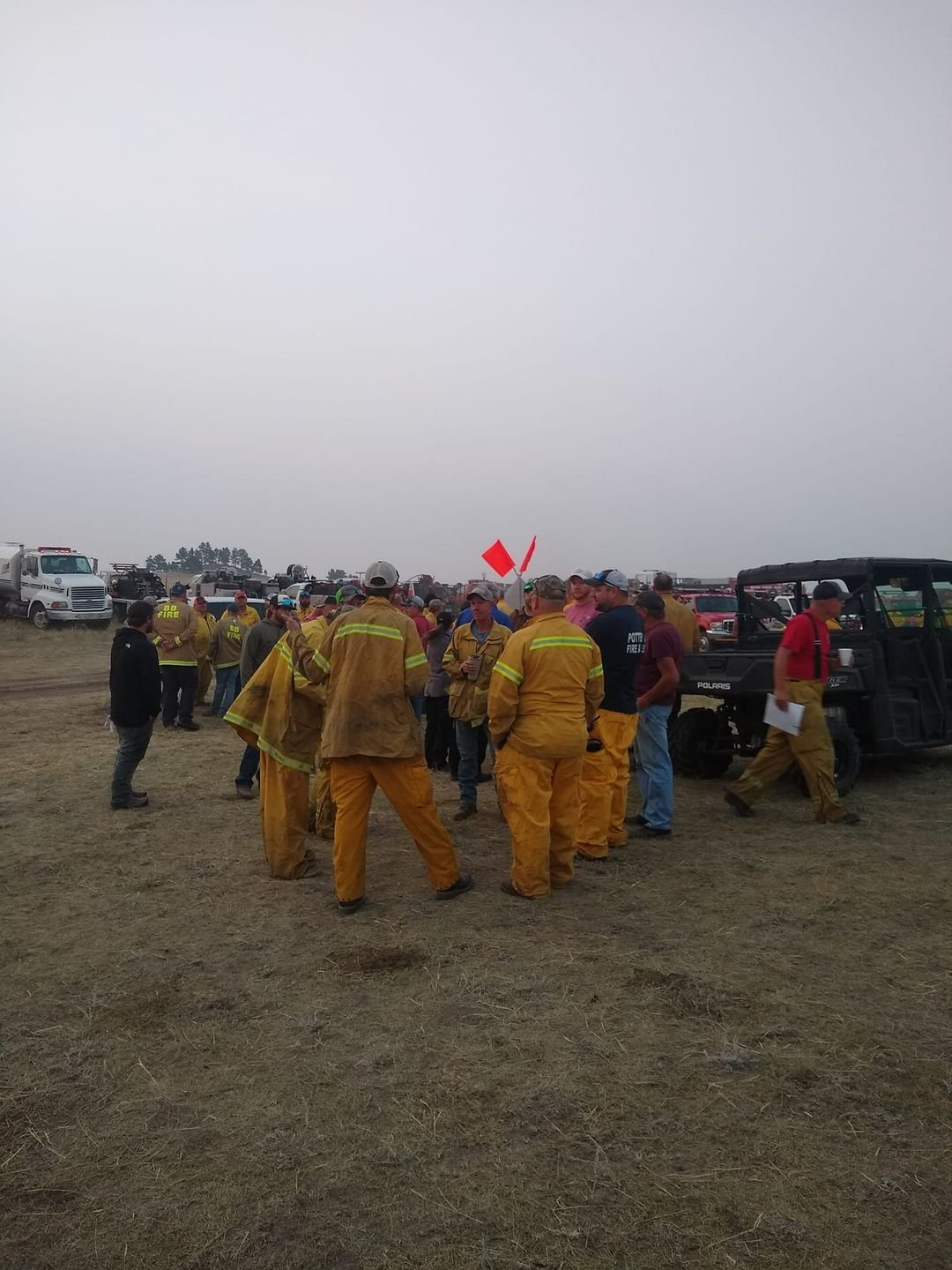 Central Nebraska fire departments provide assistance with Hackberry Wildfire in Panhandle