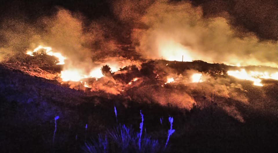 Hackberry Fire notes: Number of acres burned approaching 6,000