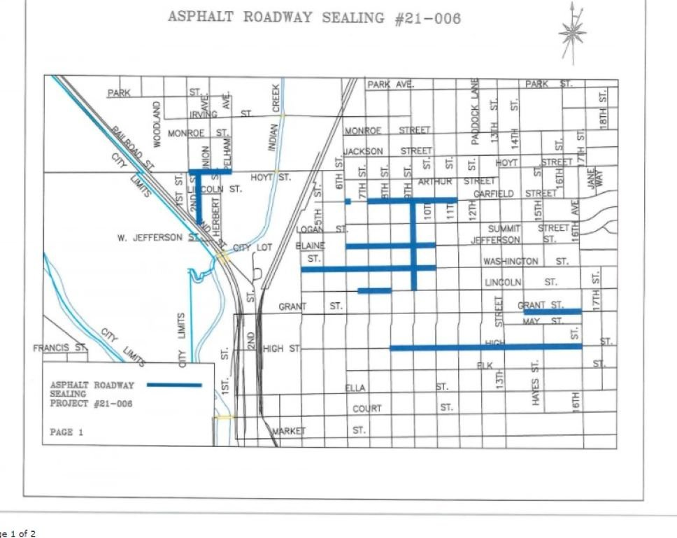 Sealant to be applied to several Beatrice streets