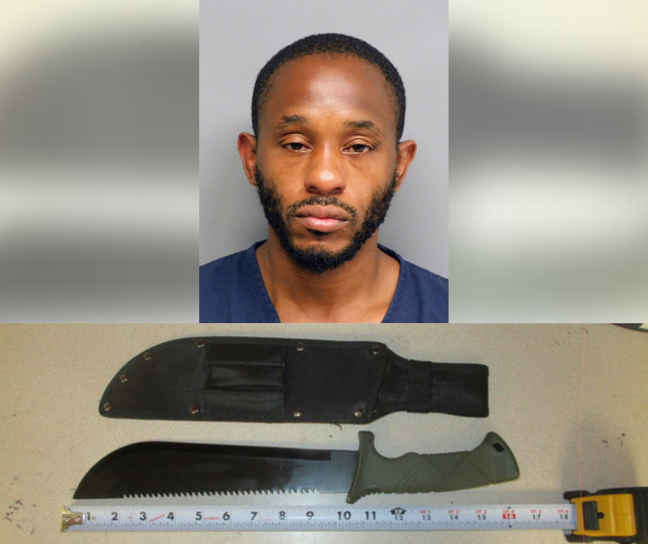 Machete allegedly used in robbery at U-Stop in Lincoln