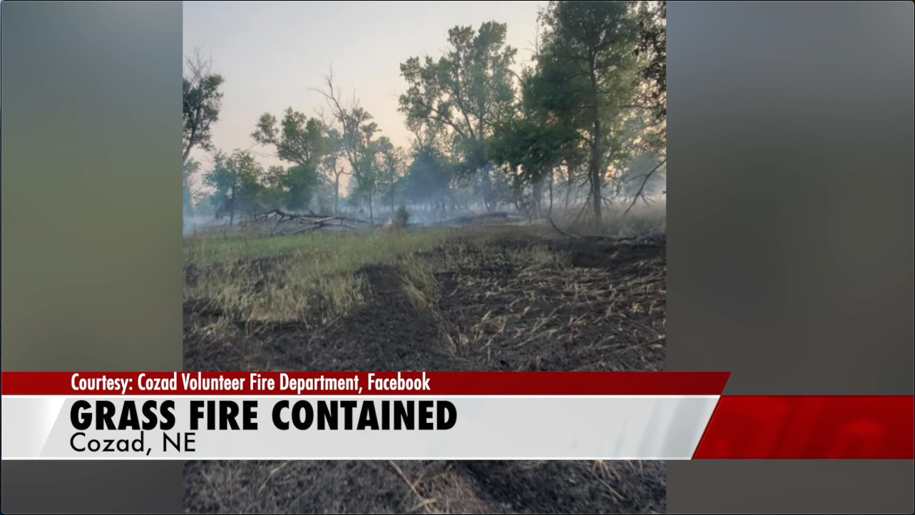 Cozad grass fire contained, 80 acres burned