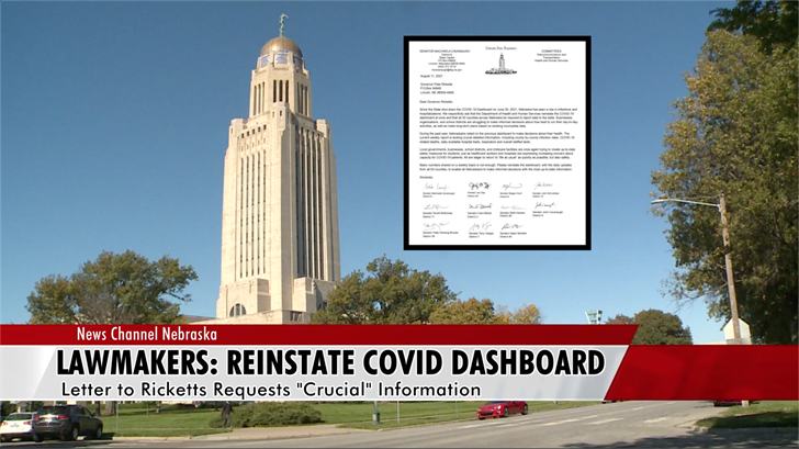 State lawmakers urging Ricketts to reinstate COVID dashboard