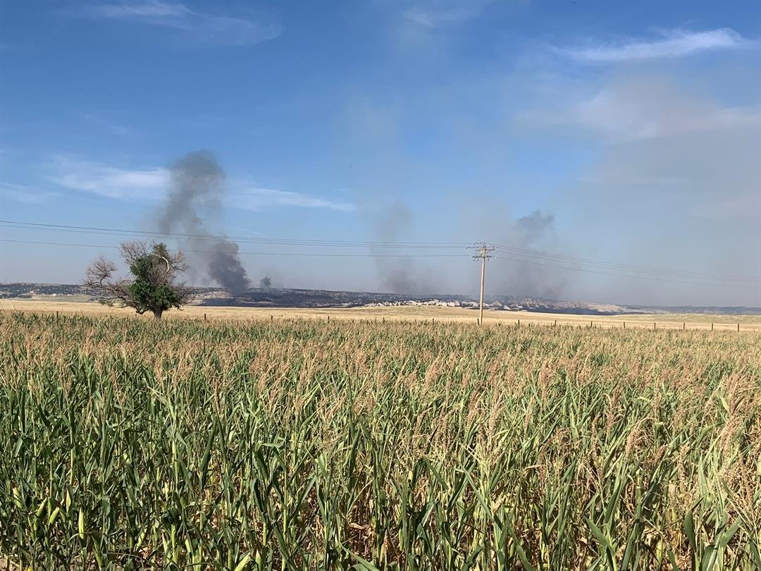 Cross fire in Banner County under control