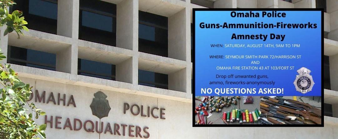 Police holding gun, ammo, fireworks amnesty day