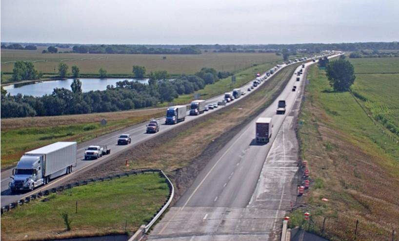 Crash involving motorcycle and semi temporarily halts I-80 traffic