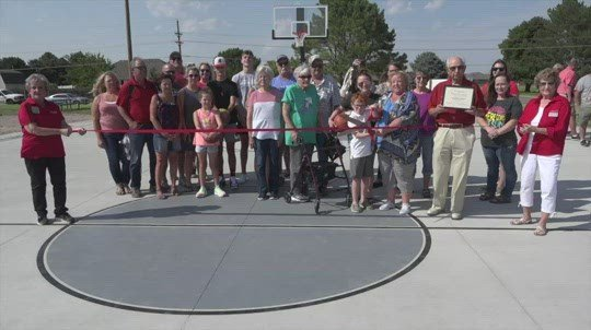 Basketball Court honoring Sidney youth coach opens for play