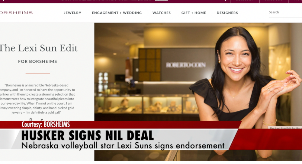 Husker volleyball star signs endorsement deal with local business