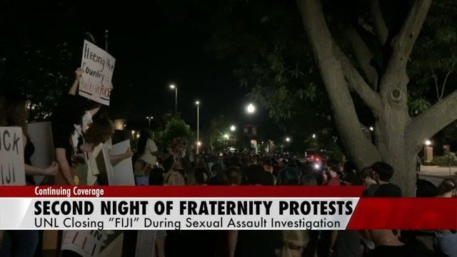 Protests continue at UNL, calling for permanent ban of fraternity