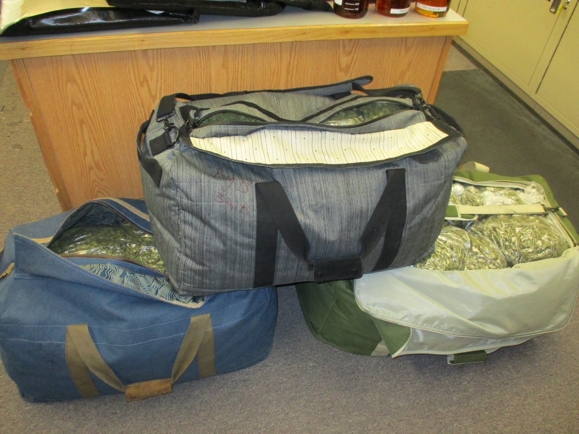 156 lbs of pot confiscated during a traffic stop