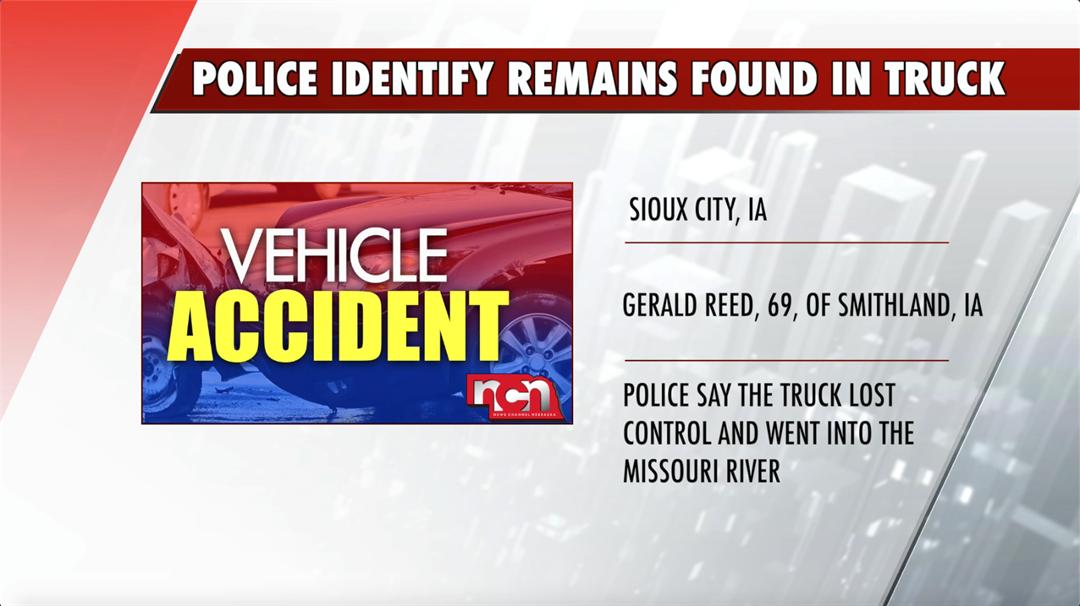 Vehicle fully submerged, remains identified