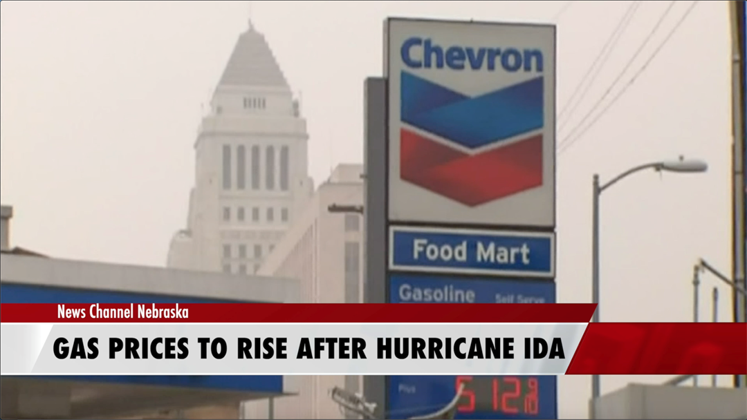 Hurricane Ida could lead to gas prices rising