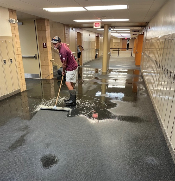CMS closed for day after flooding