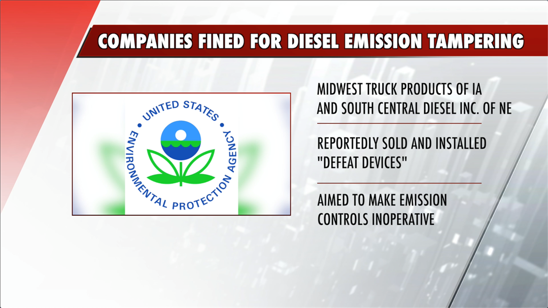 Two companies fined for diesel emission tampering