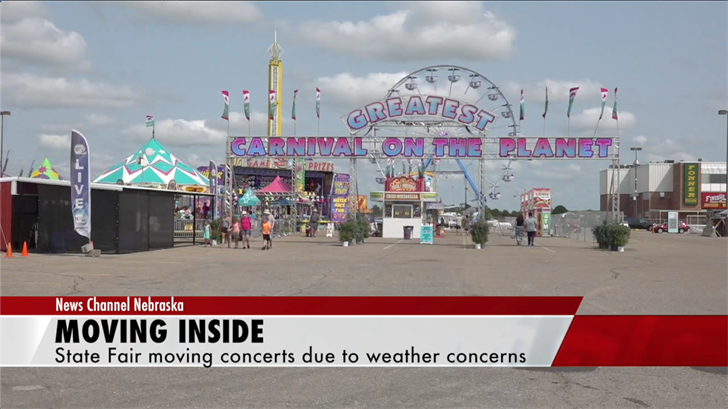 Nebraska State Fair bands move indoors due to weather concerns