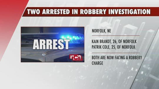 Two arrested in connection to Norfolk armed robbery