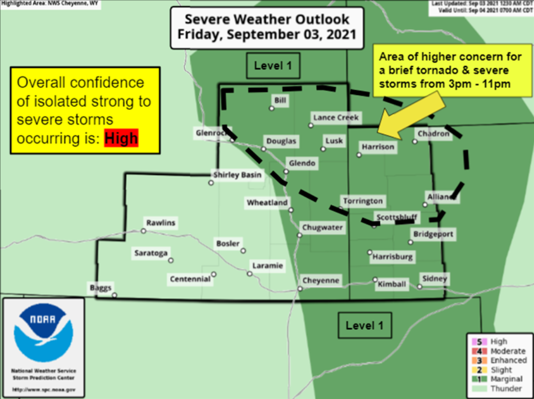 Severe storms possible over panhandle Friday evening