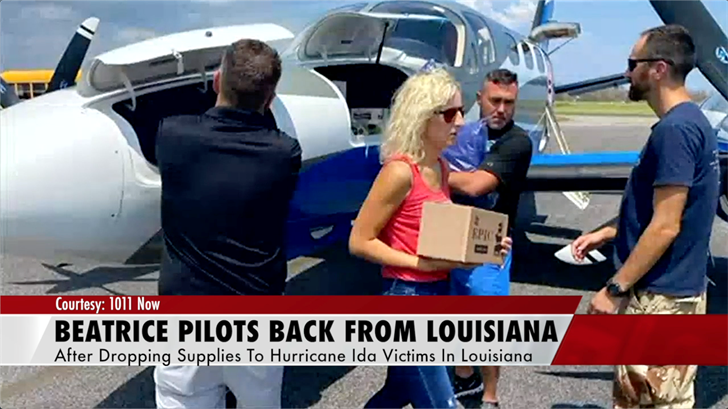 Beatrice pilots back in Nebraska after dropping off supplies to Hurricane Ida victims