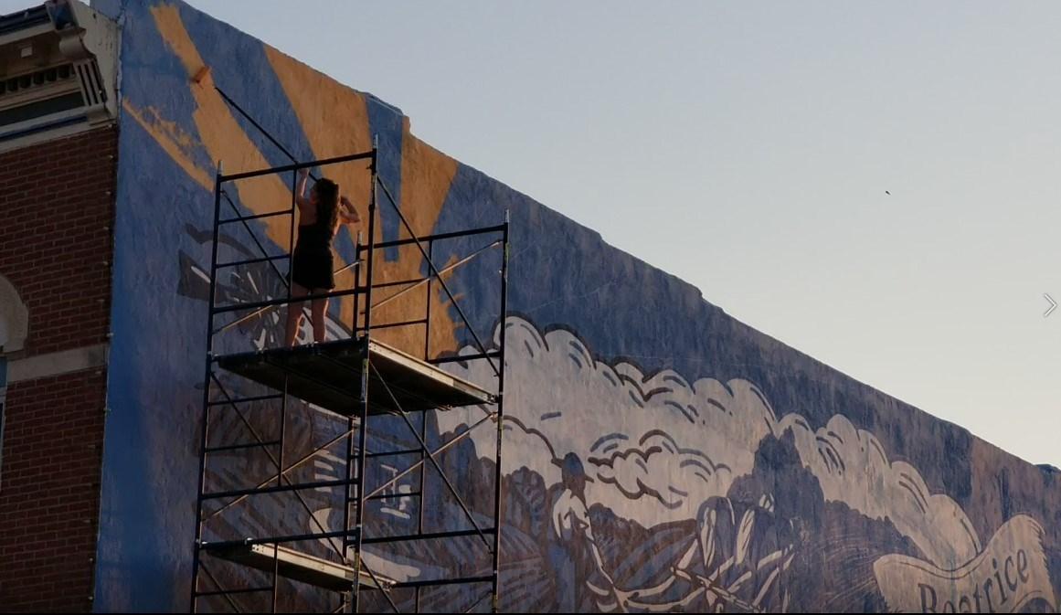 Wymore, UNL graduate creating downtown Beatrice mural