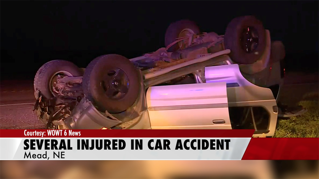 Several injured in car accident near Mead