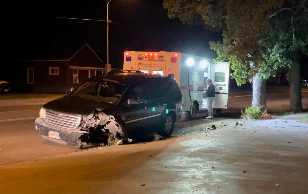 Single vehicle accident involves 14-year-old driver