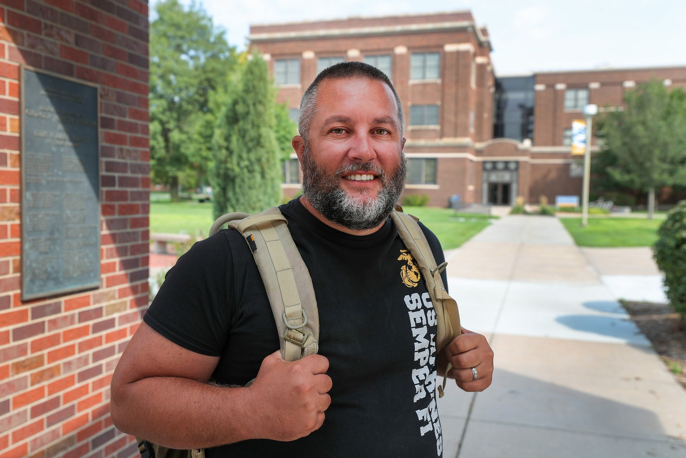 20 years ago, UNK senior Lance Blythe left college to serve his country