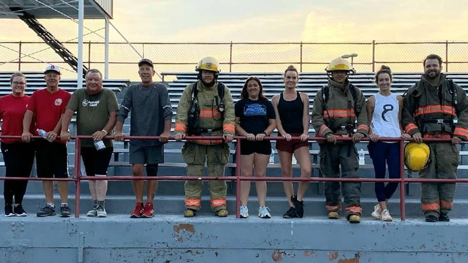 Potter fire fighters climb 110 flights of stairs in remembrance of 9/11