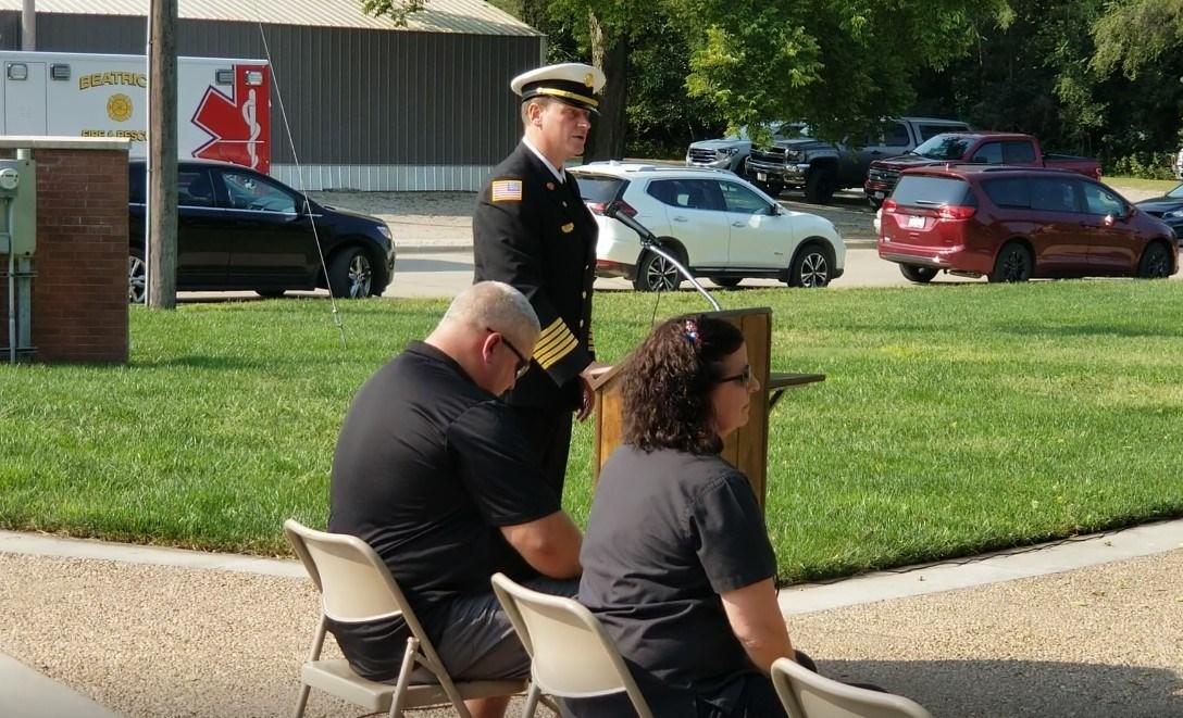 Beatrice Veterans Memorial Park, holds 9/11 observance